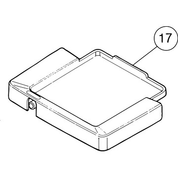 SI-100E #17 Drip Tray (no spout for hose)