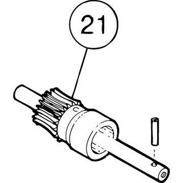 SI-100E Small Pin For Brake Worm Gear