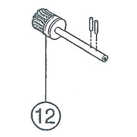 SI-150S #12 Brake Worm Gear